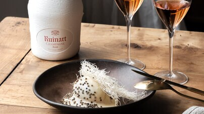 Ruinart Rosé x Oeuf mollet title=
